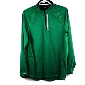 HIND Men's Performance 1/2 Zip Pullover Green